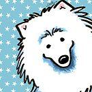 American Eskimo Dog Seeing Stars by offleashart