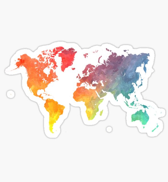 Map of the World Sticker