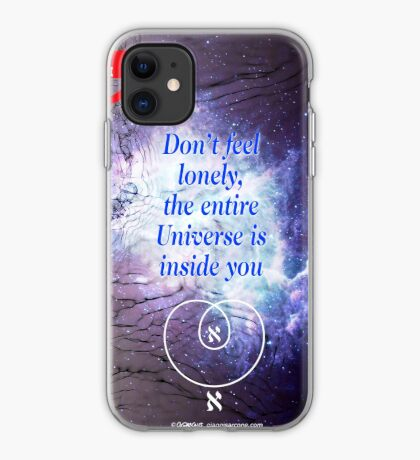 Rumi's Inspirational Quote iPhone Case