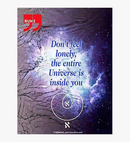 Rumi's Inspirational Quote Photographic Print