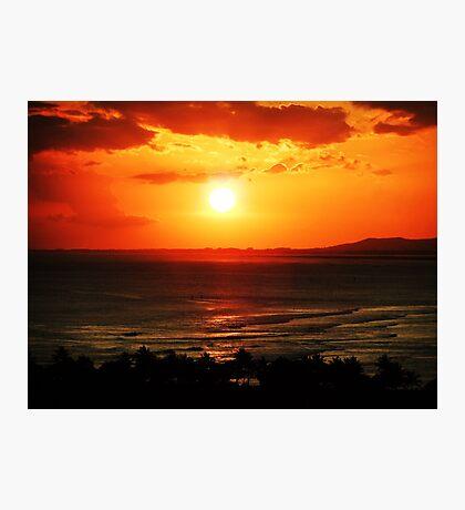 Sunset in Honolulu Photographic Print