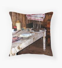 Explorer's Hut Interior #2 Throw Pillow