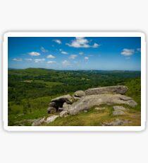 Views across Dartmoor Sticker