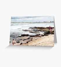 A day at the beach. Greeting Card