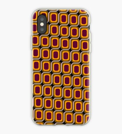 That 70's Design - Brown Orange Maroon on Black Background iPhone Case