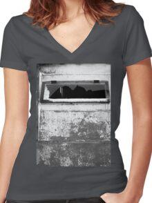Broken window Women's Fitted V-Neck T-Shirt