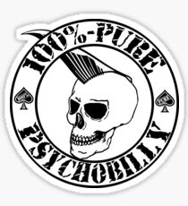 Pure Psychobilly - Black Stamp Sticker
