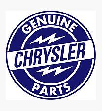 Chrysler Original Parts vintage sign. Flat version Photographic Print