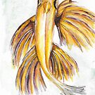 Watercolor Flying Fish by GinaBAhrens