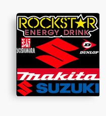 Rockstar Energy Makita Yoshimura Suzuki Racing Team Canvas Print