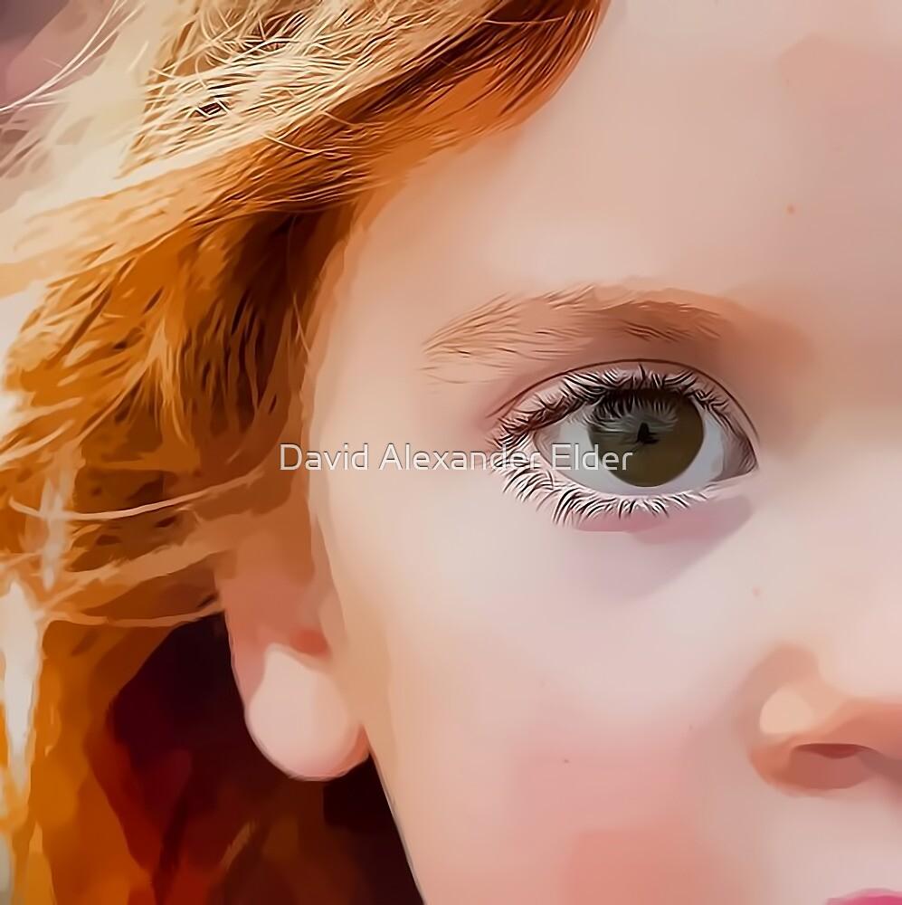 Young Girl Digital Portrait by David Alexander Elder