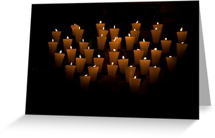 Flickering Votives by phil decocco