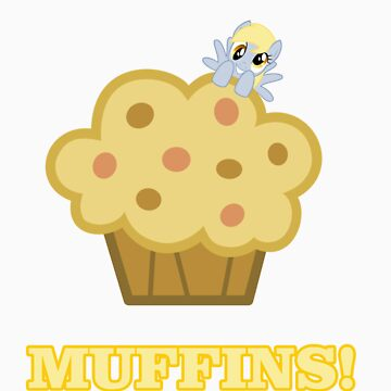 Derpy (Ditzy Doo) - Muffins! - (My Little Pony Friendship is Magic) by DarkArrow