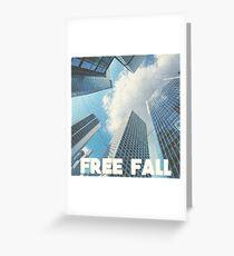 FREE FALL Greeting Card