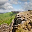 View along Stanage Edge by George Cox