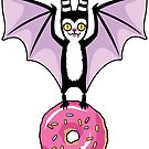 Pastel Bat with Pink Donut by blacklilypie