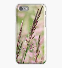 Pink Grass Abstract iPhone Case/Skin