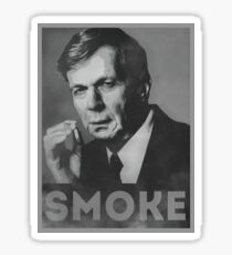 Smoke! Funny Obama Hope Parody (Smoking Man)  Sticker