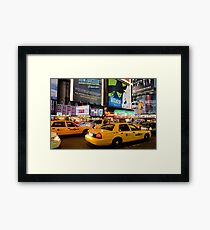 Broadway Traffic Framed Print
