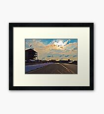 Mid Ohio Race Track Framed Print