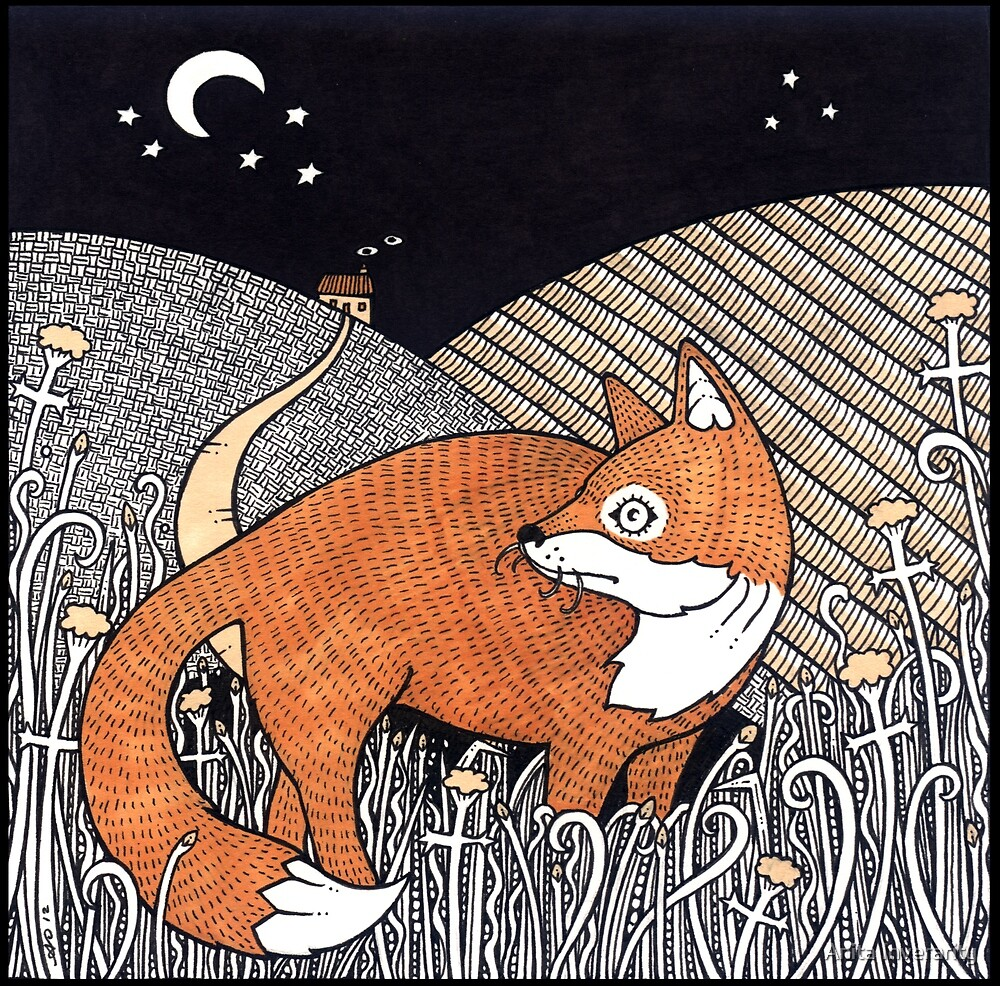 Messenger Fox by Anita Inverarity