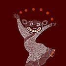 Ghost Tiger Juggler with Red Shoes by SusanSanford