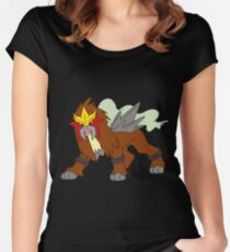 Entei Pokemon Women's Fitted Scoop T-Shirt