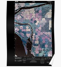 USGS Topo Map Washington State WA Humorist 20110404 TM Inverted Poster