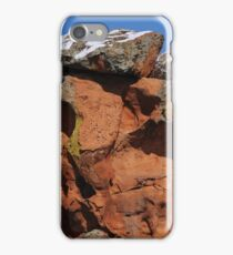 Snow on Red Rocks iPhone Case/Skin