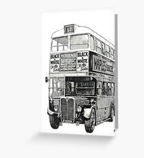 London Transport RT 1 Greeting Card