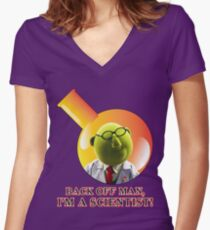 Dr. Bunsen Honeydew. Women's Fitted V-Neck T-Shirt