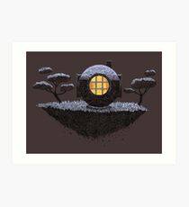 Floating Diver Home Sweet Home Art Print