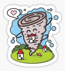 kawaii tornadoes Sticker