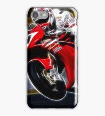FRACTAL LIGHT MOTORCYCLE RACER DESIGN iPhone Case/Skin