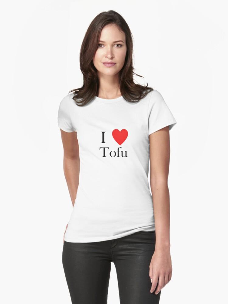 i love tofu vegan veggies lifestyle vegetarian by Tia Knight