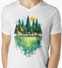 Geo Forest Men's V-Neck T-Shirt