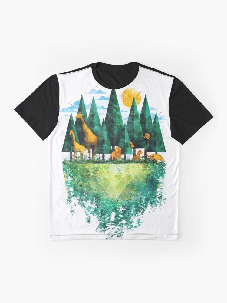 Alternative Ansicht von Geo Wald Grafik T-Shirt