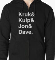 Kruk& Kuip& Jon& Dave. Zipped Hoodie