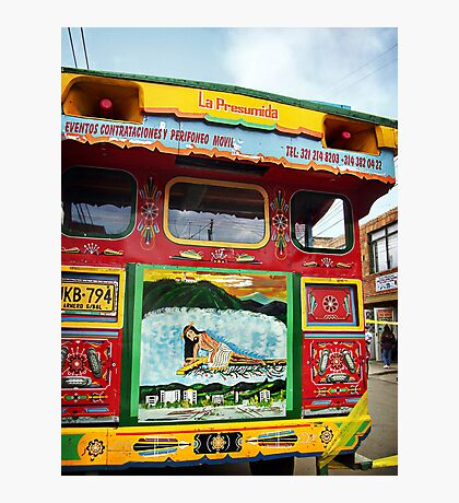 'Chiva' Bus II Photographic Print