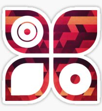 Abstract  geometric triangle texture pattern design in diabolic future red Sticker
