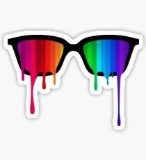 Love Wins! Rainbow - Spectrum (Pride) / Hipster Nerd Glasses Sticker