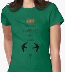 African or European? Women's Fitted T-Shirt