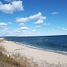 Block Island beach by endomental Artistry