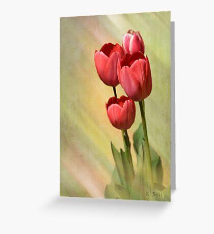 Spring Red Greeting Card