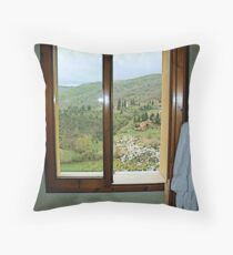 Window on Chianti - Toscana Throw Pillow