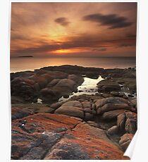 """""""A Lichen Dusk"""" ∞ Coles Bay, Tasmania - Australia Poster"""