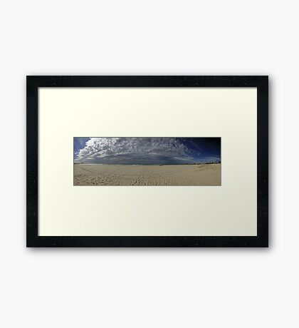 Bilinga Beach Panorama Framed Print
