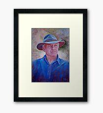 Portrait of Bruce Framed Print