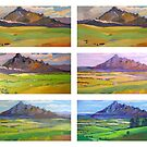 Painting Mt.Barney , or Works in Progress  by Virginia McGowan