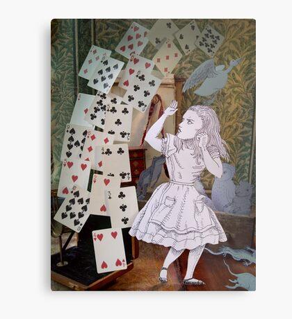 Alice In Wonderland/The Pack of Cards Metal Print